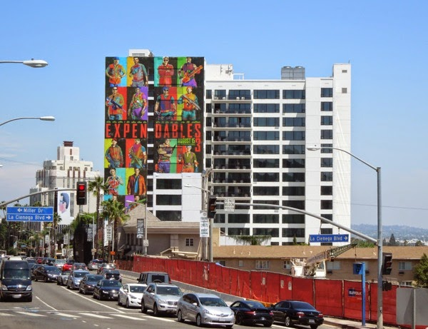 The Expendables 3 giant movie billboard