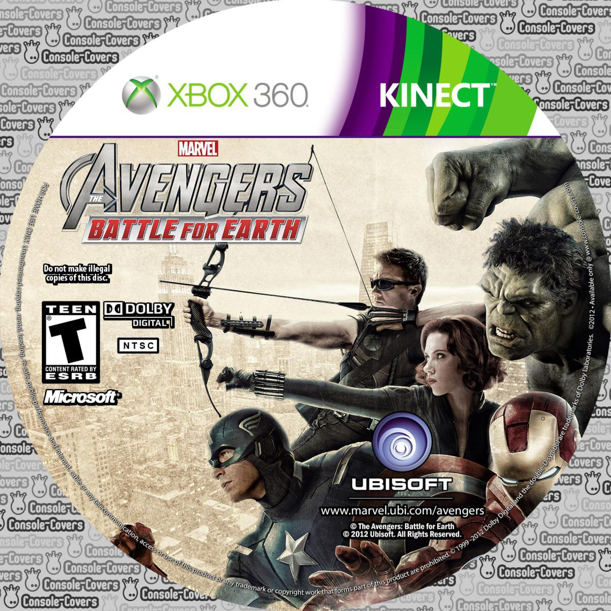 Label Avengers Battle For Earth Xbox 360