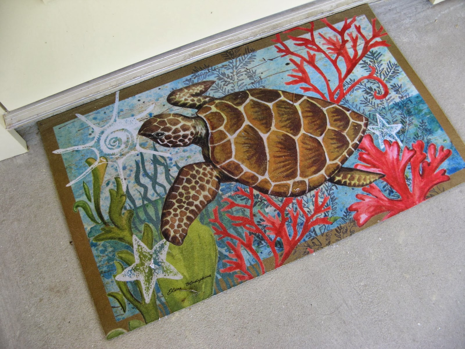 Sea Turtle Door Mat