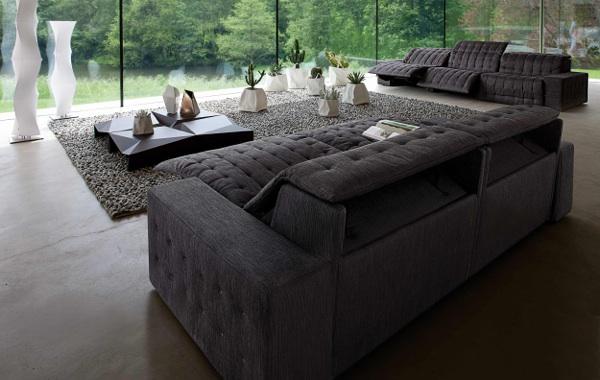 sala con muebles grises