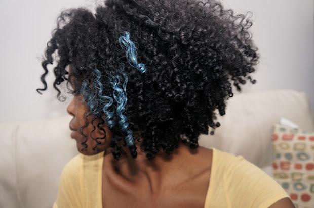 blue highlights curlynikki