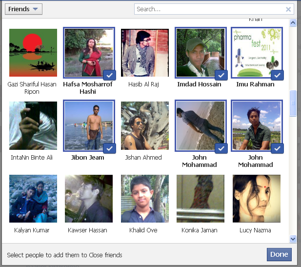 how to see close friends list on facebook