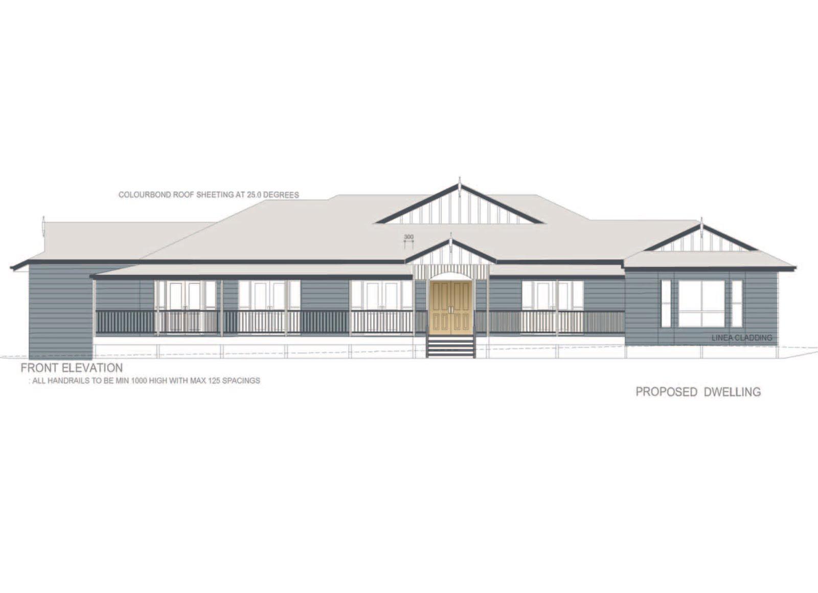 Front Elevation Metal Roof : Designed to a t little colour in her life