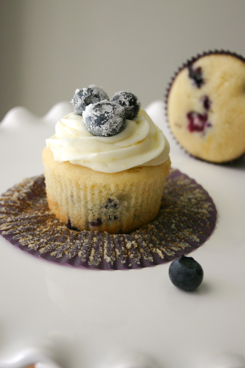 Bakergirl: Lemon Blueberry Cupcakes with Cream Cheese Frosting.