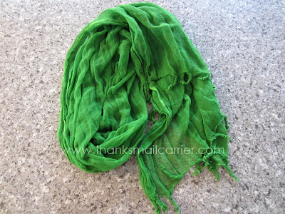 green scarf