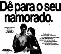Propaganda da Casa das Cuecas em 1982: Dê para o seu namorado.