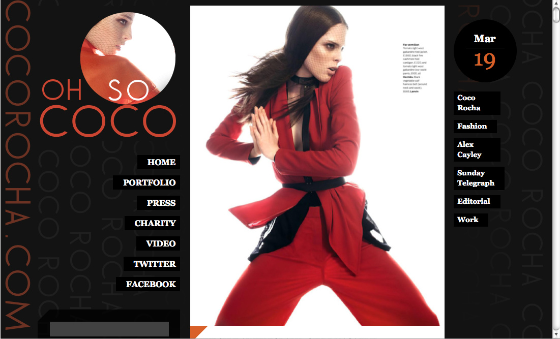 Rochas Watches Website. Celeb Style: Coco Rocha's New
