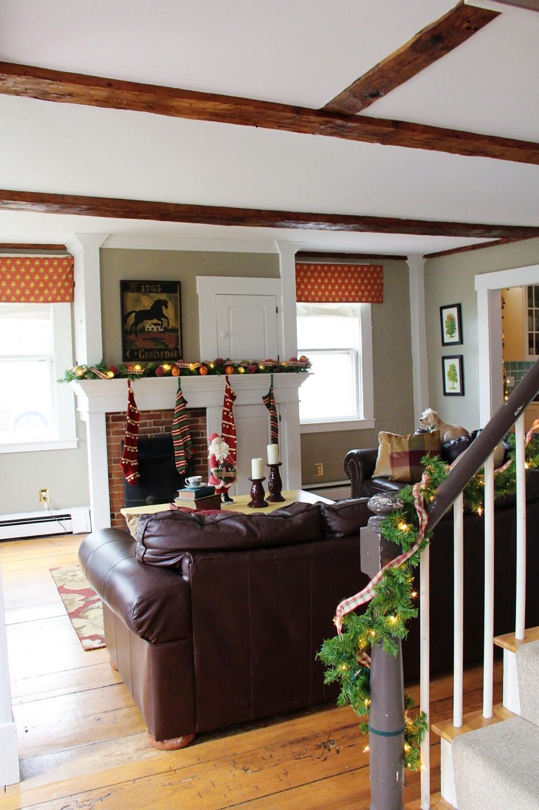 New England Living Room New England Living Christmas At My House