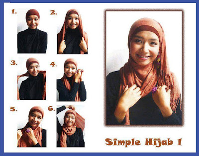 Cara Pakai Jilbab Segi Empat kreasi