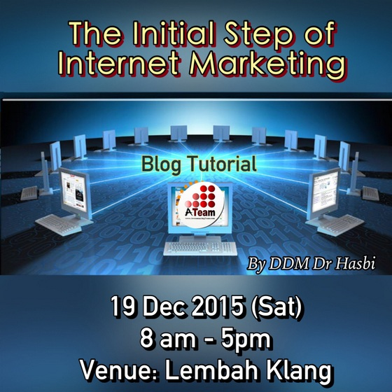 Kelas buat blog sehari bersama ATeam di Shah Alam