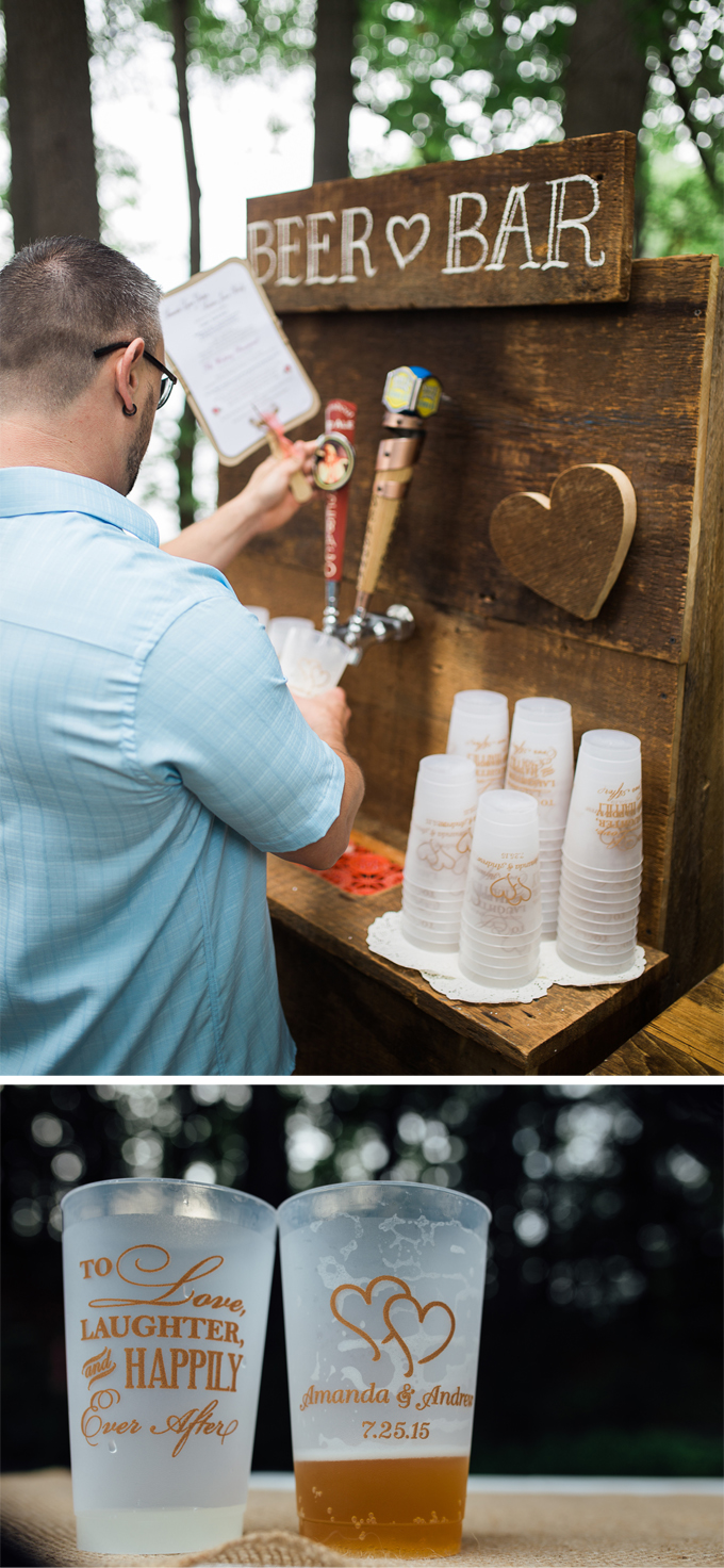 DIY Pastel and Burlap Beer Bar Wedding