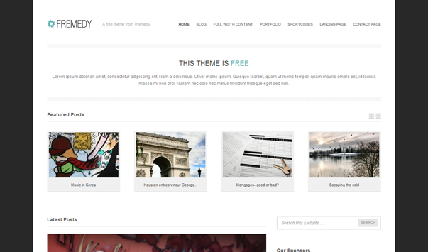 Fremedy Theme Wordpress Terbaik