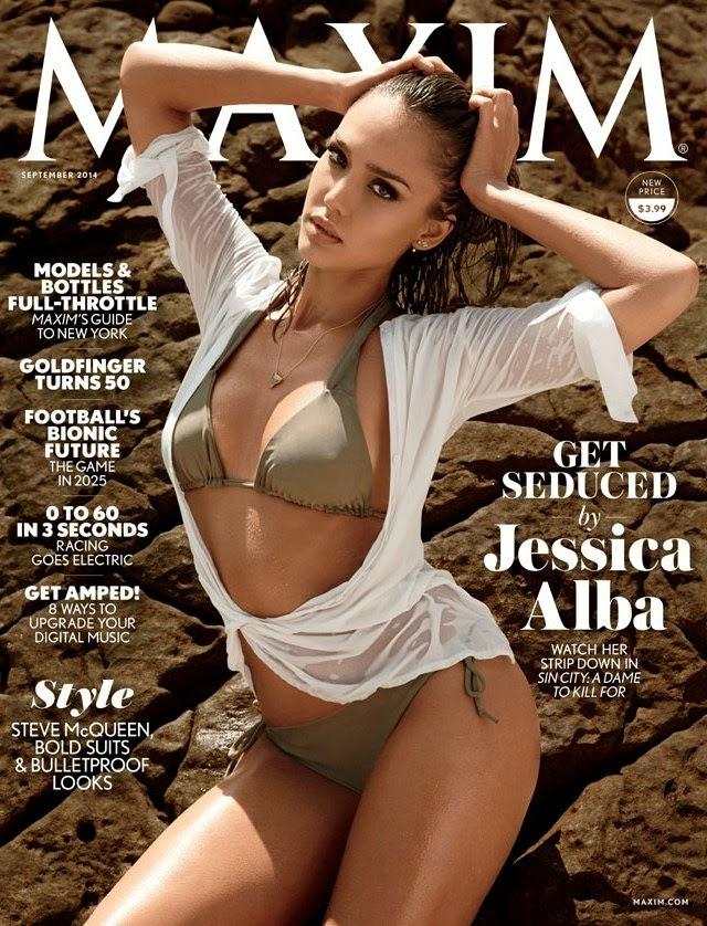 Jessica Alba en portada de Maxim