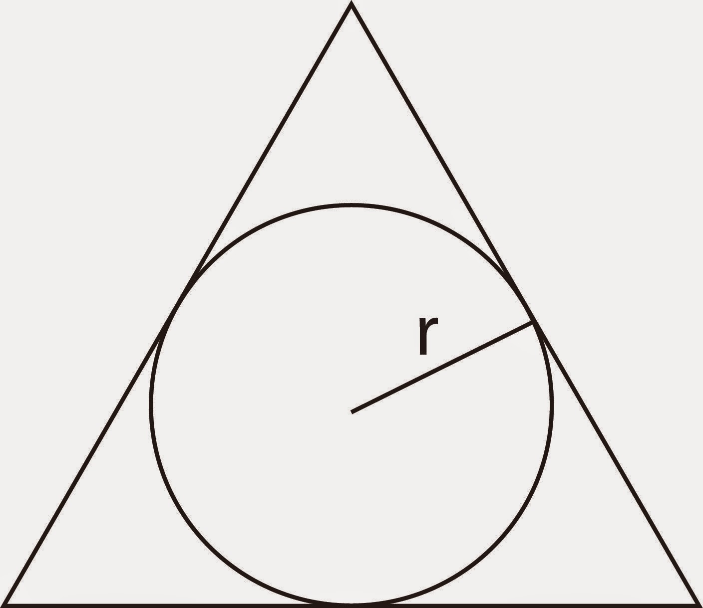 circumscribed triangle with inradius r