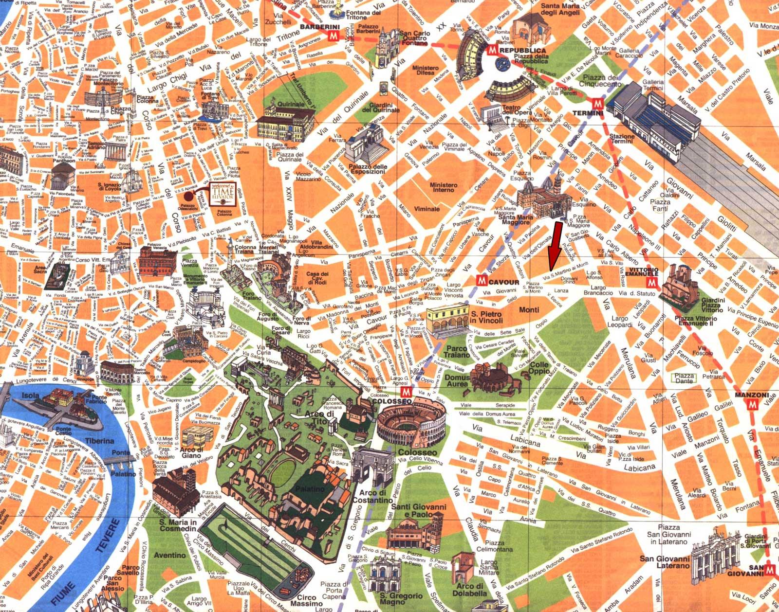 Atlas mapas turisticos de roma for Oficina turismo roma