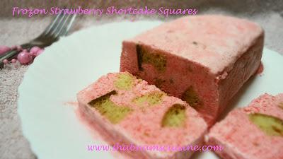 Shabnam's Cuisine: Frozen Strawberry Shortcake Square (No Bake Dessert ...