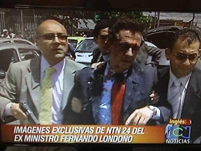 Fernando Londoño Hoyos vítima de atentado recente das FARC.