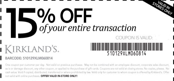 Kirklands coupons for online shopping