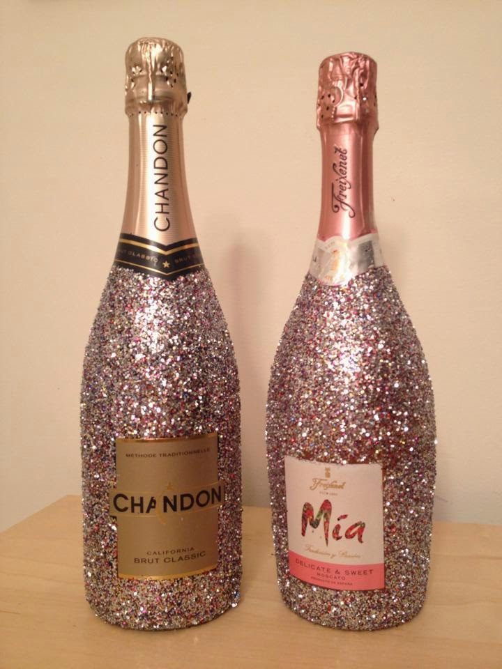 Move by yourself for How to make glitter wine bottles
