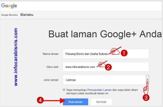 Buat laman Google Bisnisku