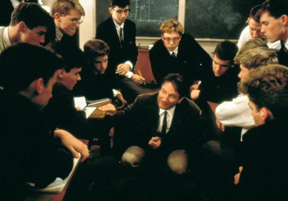 dead poets society into the world Peter weir's dead poets society where it is isolated from the real world and its politics the camera then cuts into the three frames.