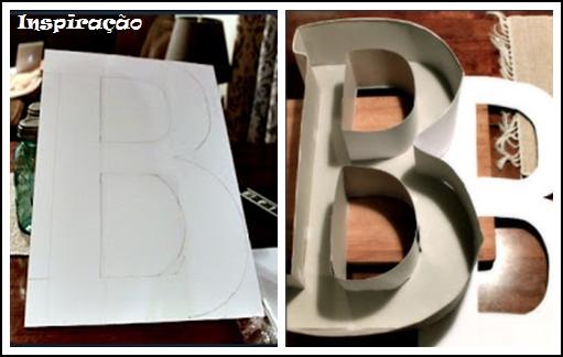 caixa papelão letra B