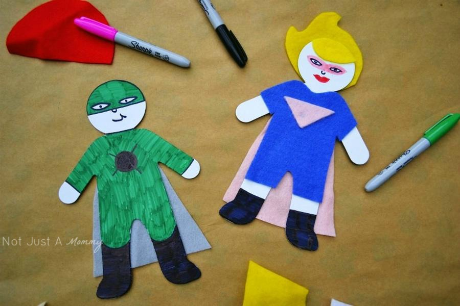 Super Dad Father's Day Luncheon paper doll craft