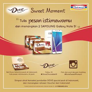 Info Promo - Promo Dove Chocolate Berhadiah Samsung Galaxy Note 5 dan Ratusan Voucher Belanja