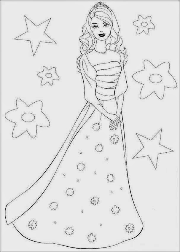 12 Barbie Dancing Coloring Pictures