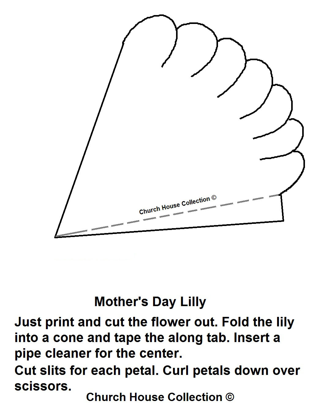 Church House Collection Blog Mother S Day Lily Craft