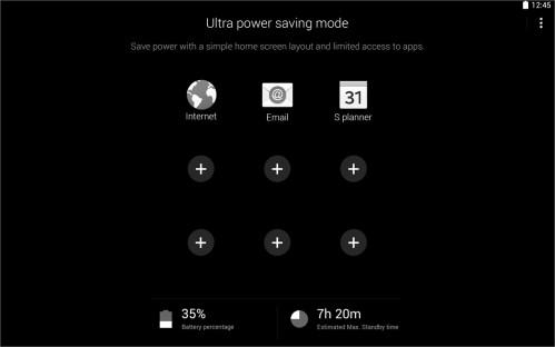 Lato software nei nuoti tablet Galaxy Tab S troveremo la funzione Ultra power saving mode