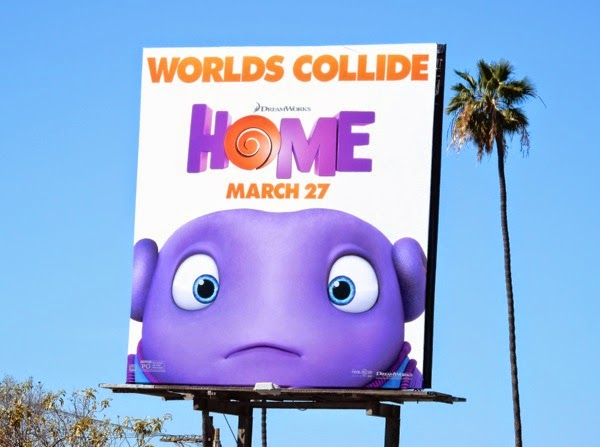 worlds collide Home movie billboard