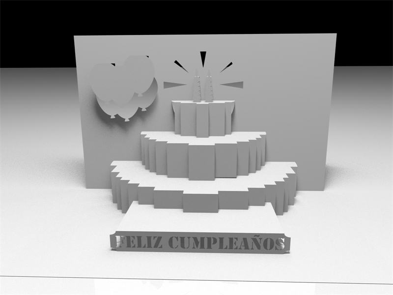 "Awesome SVGs: Kirigami ""Feliz Cumpleaños"" and ""Happy ..."