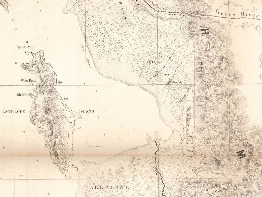 fremont s map of 1849 50 shows the phillips holmes and haight farms the survey has a number of interesting problems and errors including the location of
