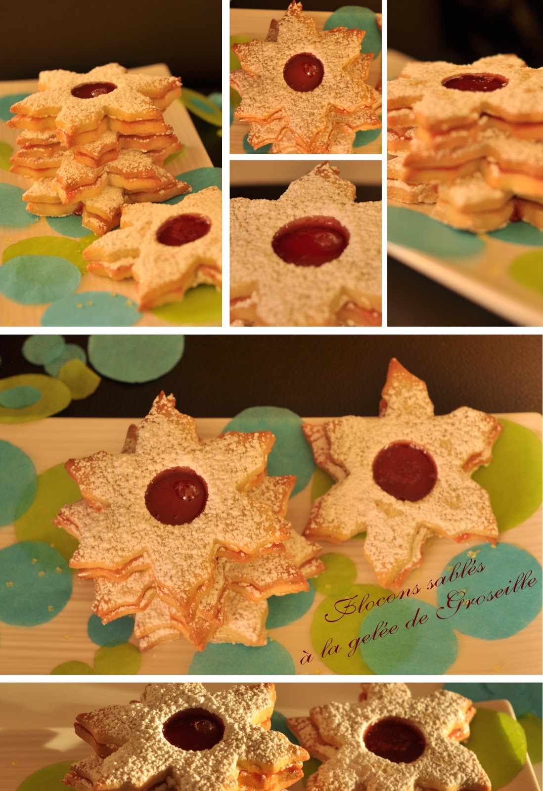 biscuits sablés à la confiture de fruits rouges