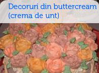 Decoruri din buttercream (crema de unt)