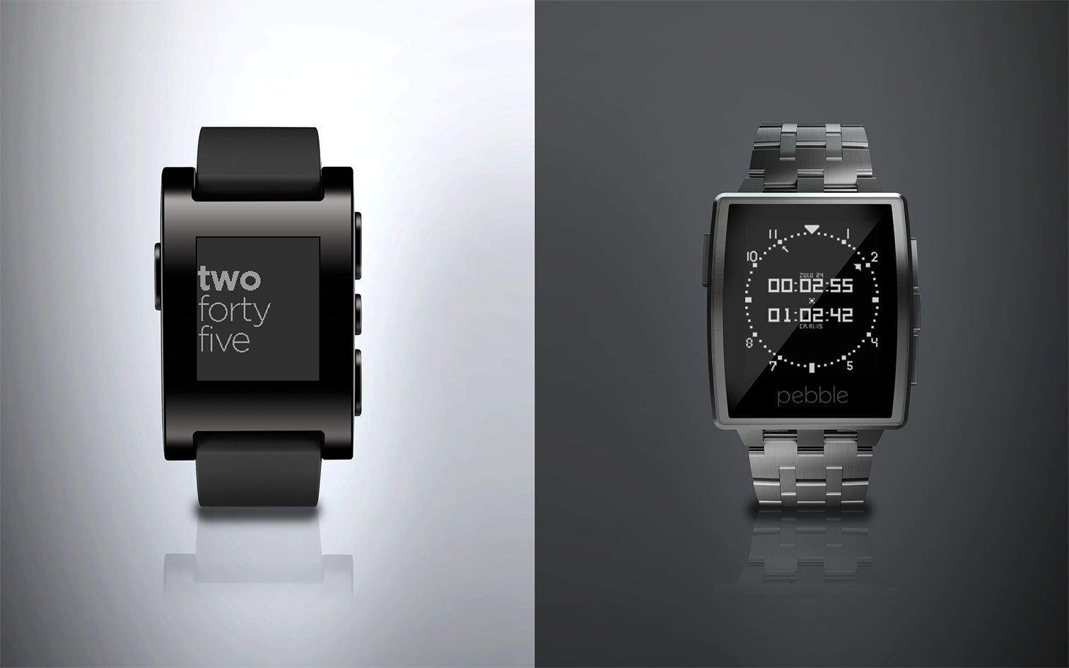 Pebble's smart watch and Pebble steel