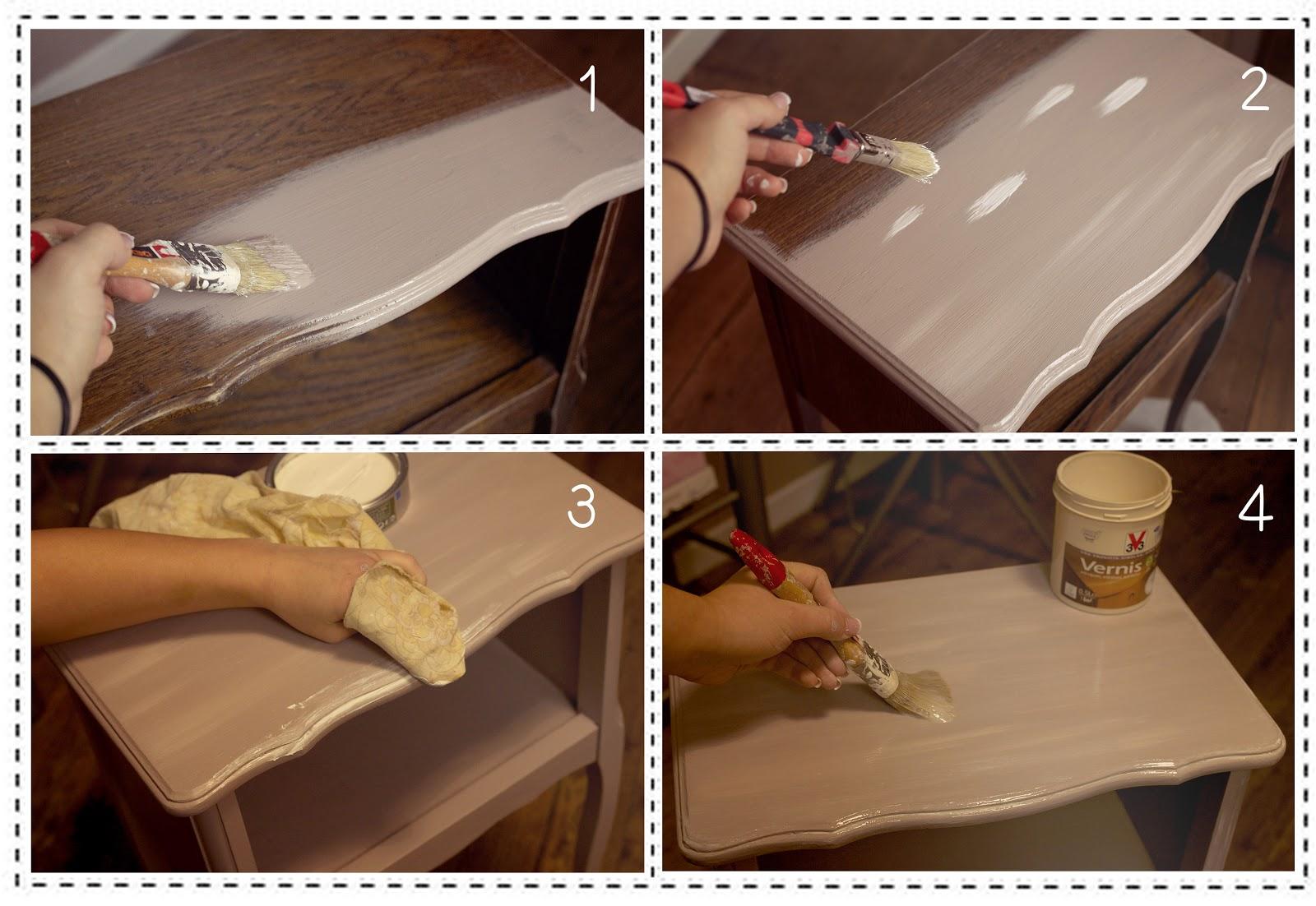 Diy r nover une table de chevet petit prix for Peindre une table