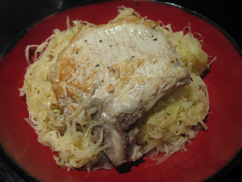 pork chops and sauerkraut pork chops with sauerkraut and cheater ...