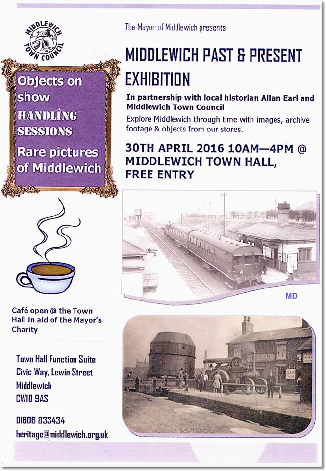 TODAY FROM 10am! MIDDLEWICH PAST AND PRESENT EXHIBITION