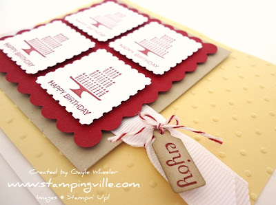 Stampin' Up! Pretty Postage birthday card