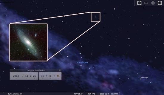 Temukan Galaksi Andromeda Malam Ini