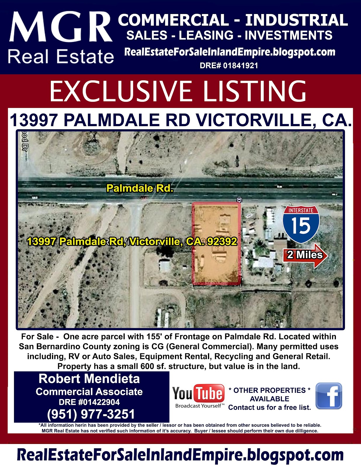 Industrial Property For Sale Palmdale Ca