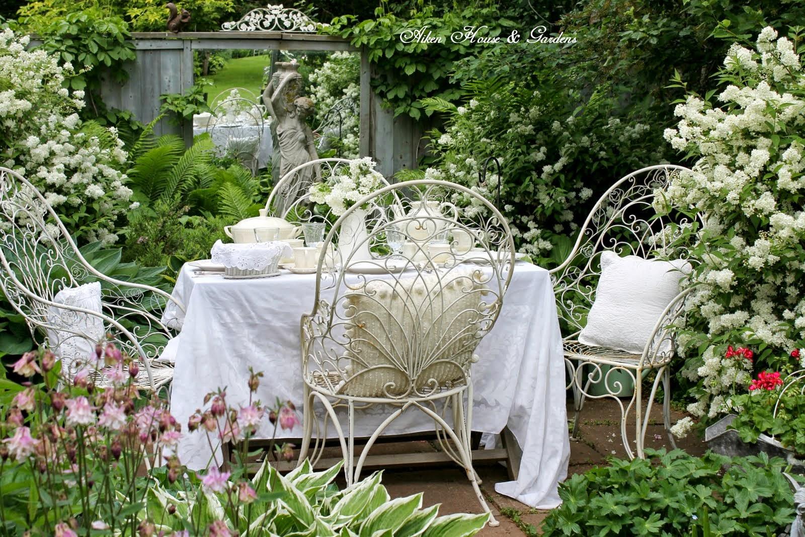 Aiken house gardens an elegant white tea time for Aiken house
