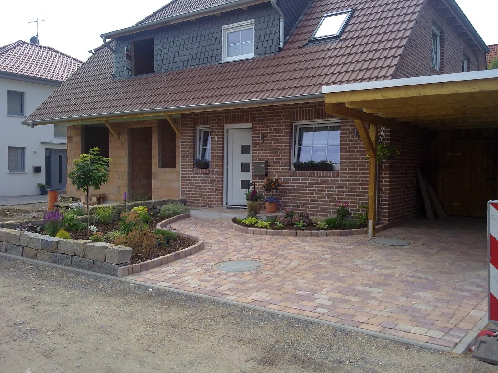 Unser alb traumhaus entsteht vorgarten und doppelhaus - Vorgarten pflastern ...