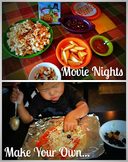 cooking with kids, movie night