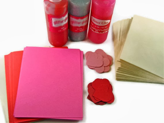 valentine card kit accessories