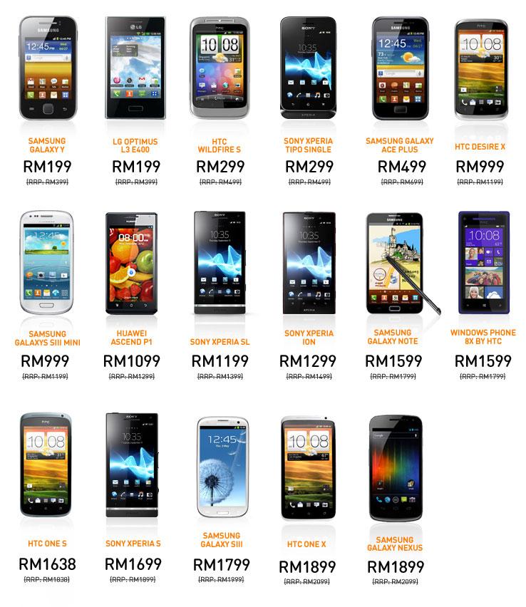 Pilihan Telefon Untuk Rebat RM200, Senarai Telefon Pintar Rebat RM200