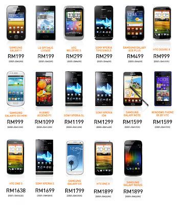Senarai Telefon Pintar Rebat RM200 Umobile, senarai 18 telefon pintar