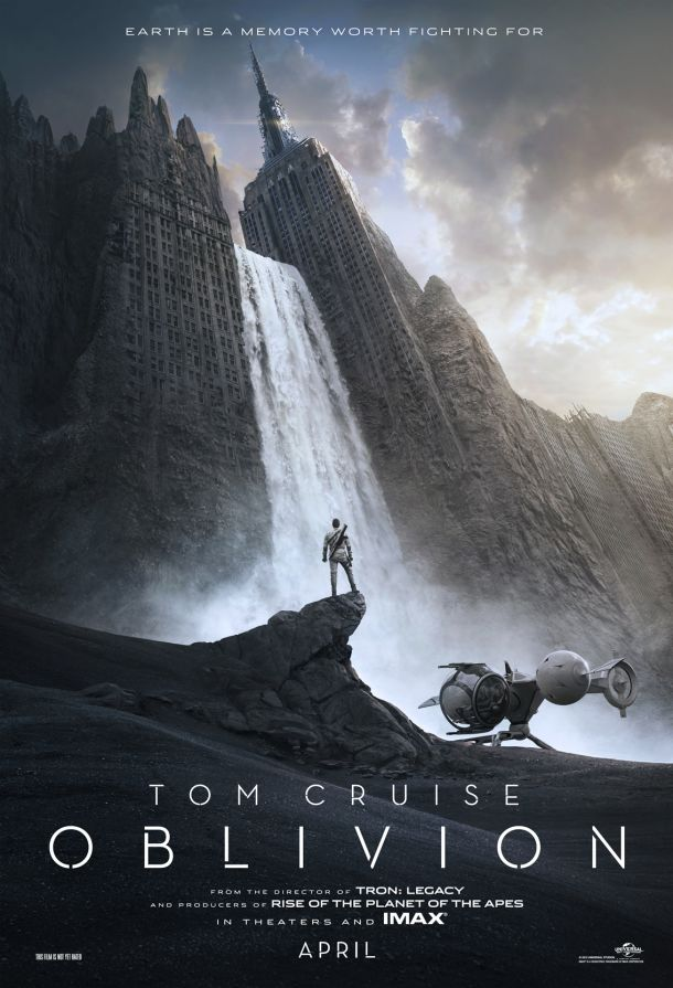 Main theatrical poster for Oblivion & Movie Poster Critic: Commentary: A Reaction to the shift in ...